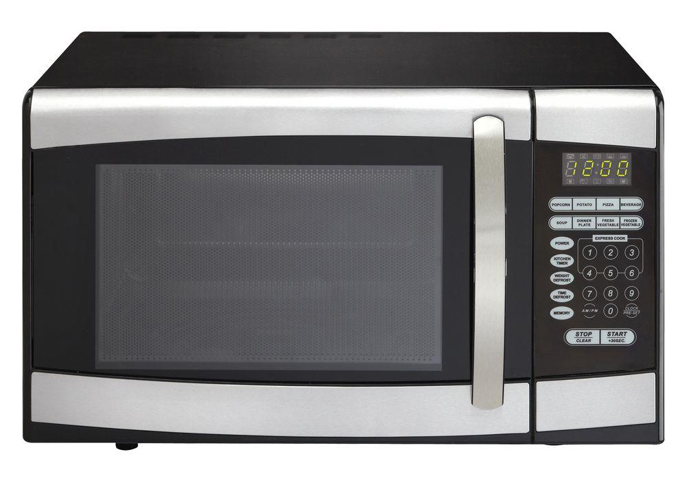 Microwave Oven BLACK W/ Stainless Steel .9 CU FT