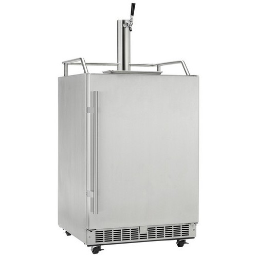 6.5 CuFt. Outdoor Rated Keg Cooler, Frost Free Operation