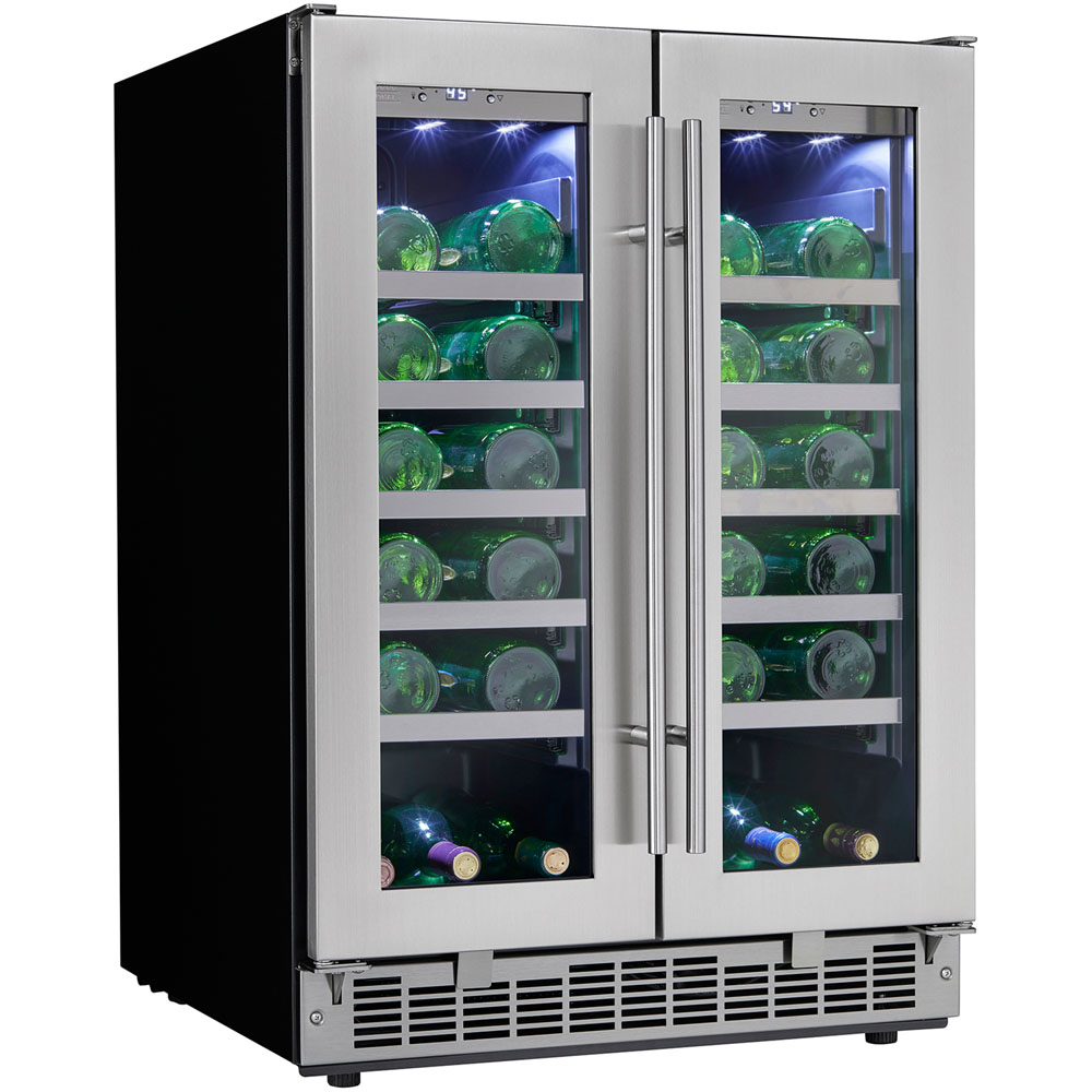 41 Bottle Built-In Wine Cooler, LowE tempered glass door Silhouette