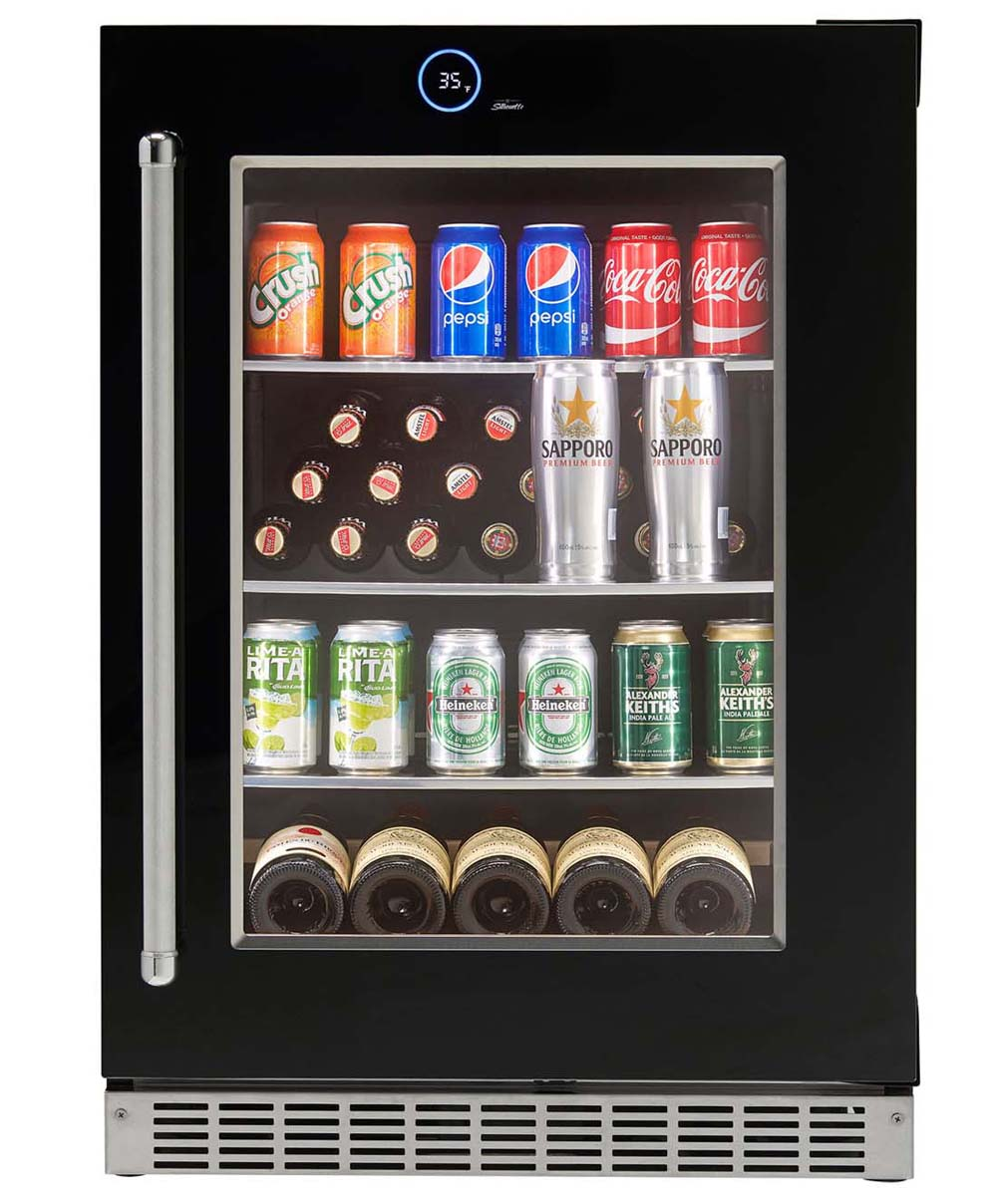 Silhouette Reserve Integrated Under-Counter Refrigerator, Right Swing