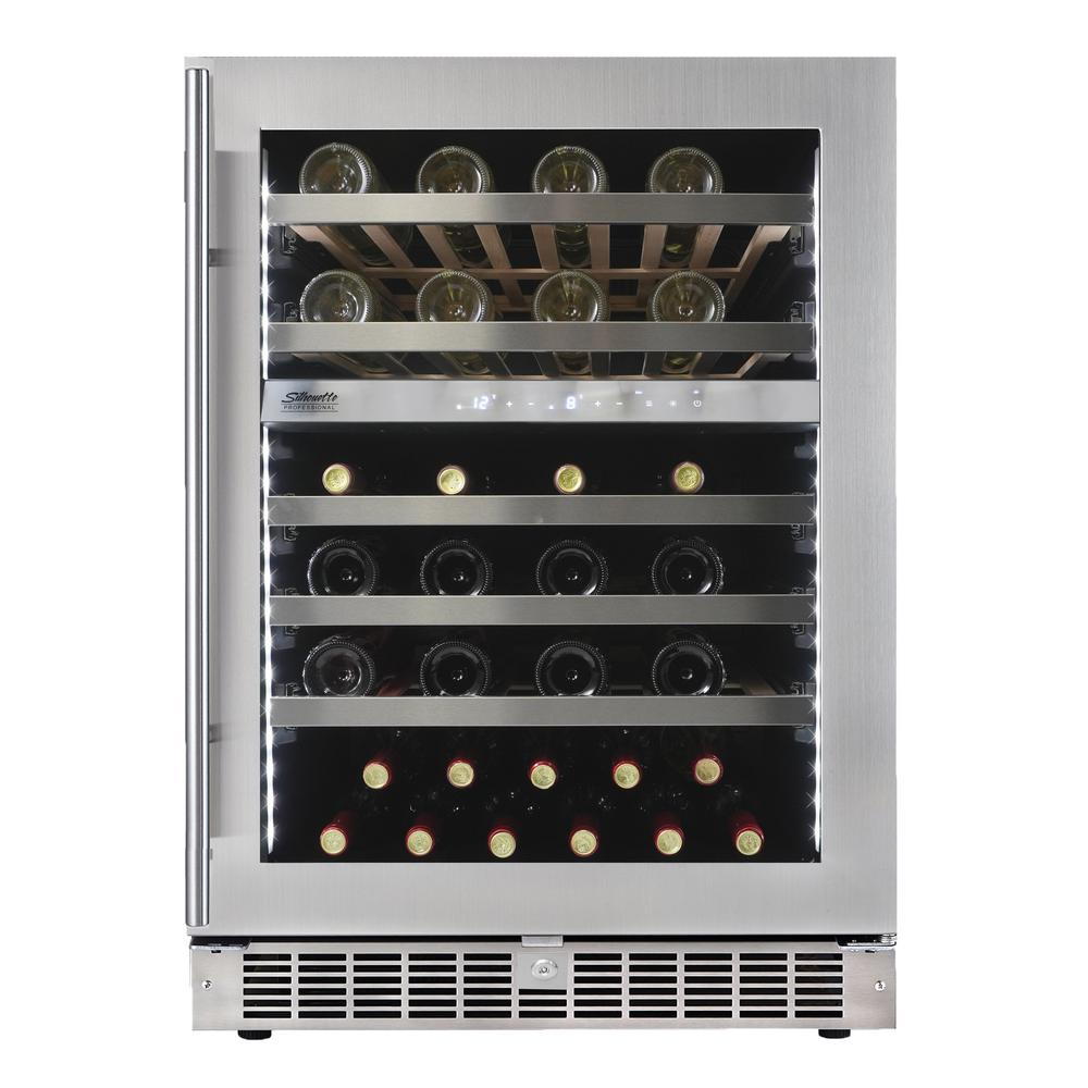 51 Bottle Integrated Wine Cooler, Low-E Dual Pane Door, Pro Style Handle