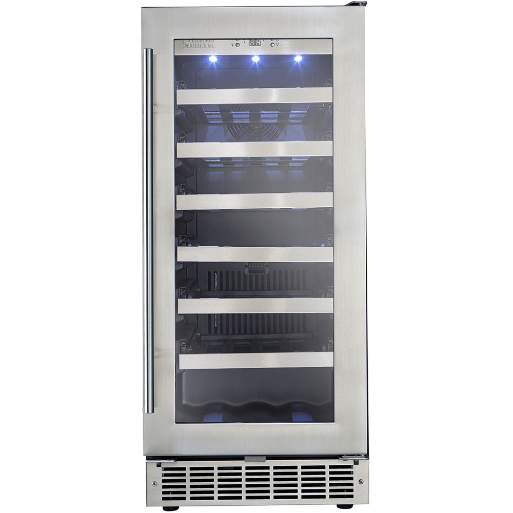 3.1 CuFt Built-In Wine Cooler, LowE tempered glass dr Silhouette