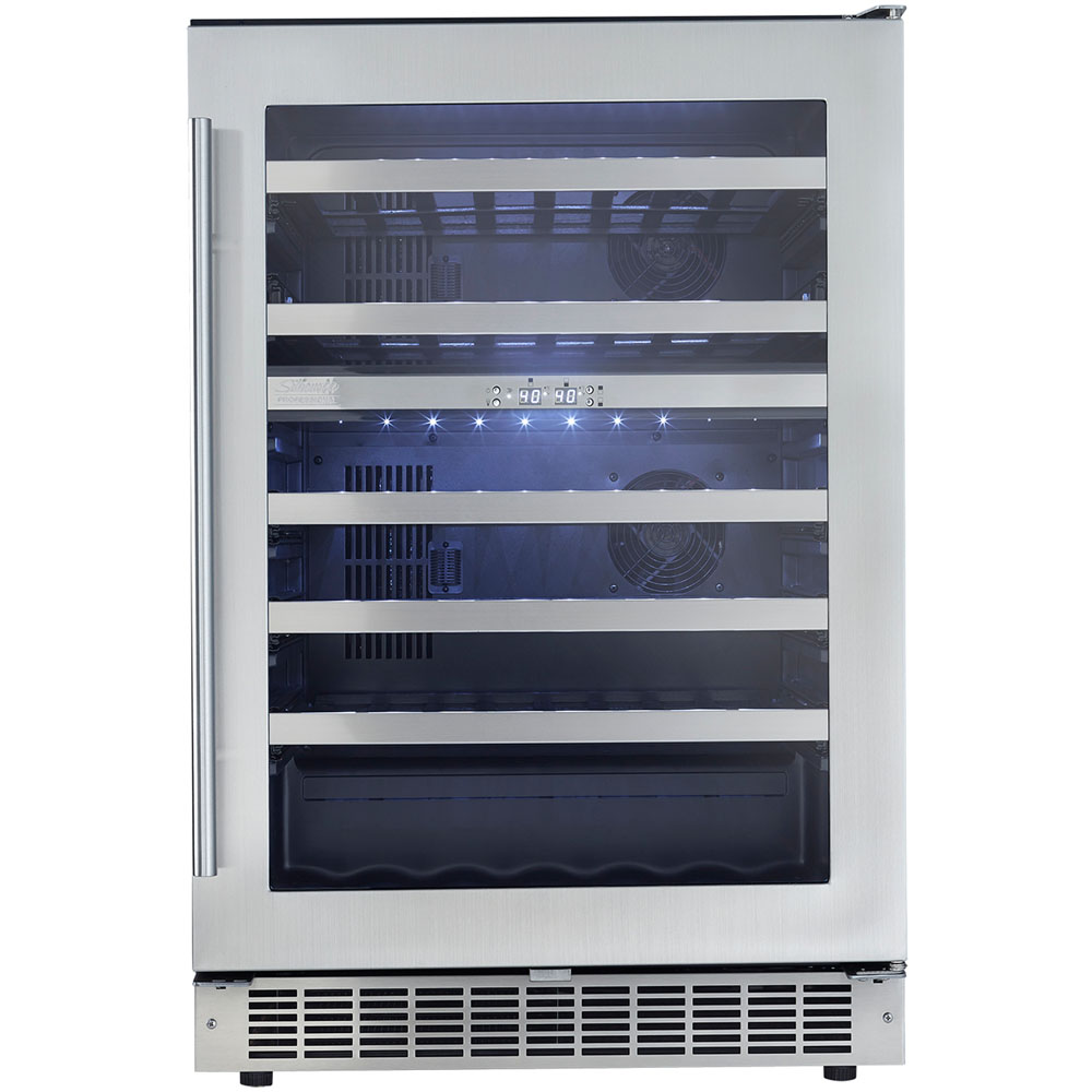 51 Bottle Built-In Wine Cooler, LowE tempered glass door Silhouette