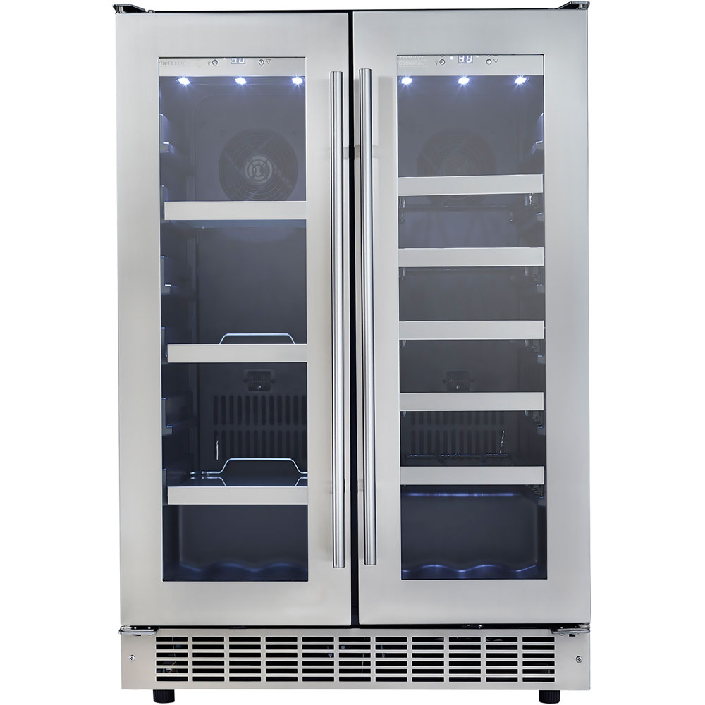 4.7 CuFt Built-In Beverage Ctr, 21 wine bottles, 61 bev cans Silhouette