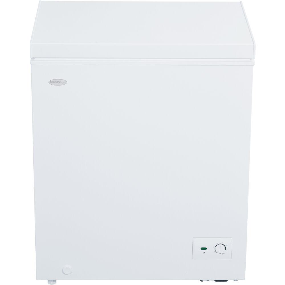5.0 cuft Chest Freezer, 1 Basket, Up Front Temperature Control