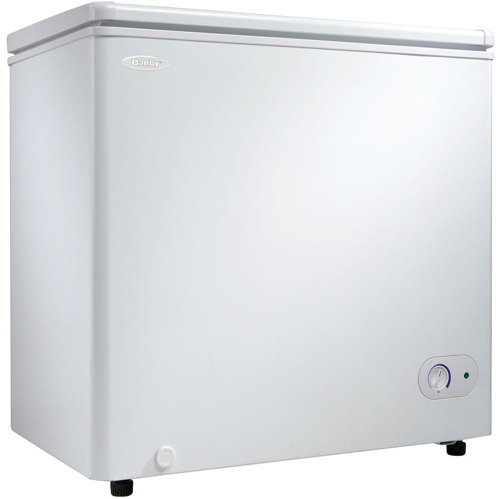 5.5 Cu.Ft. Chest Freezer, 1 Basket, Up Front Temperature Control