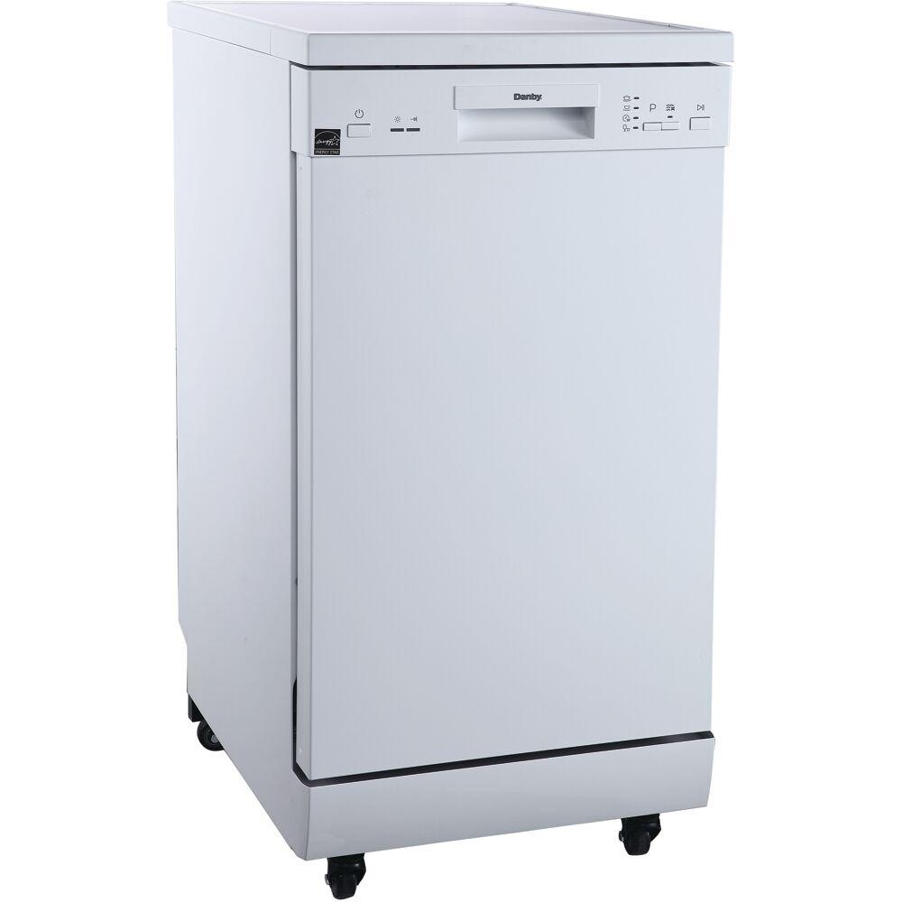 "18"" Portable Dishwasher, 8 Place Settings, SS Interior, 4 Wash Programs"