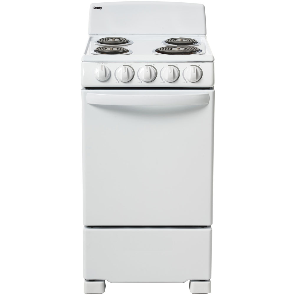 """20"""" Electric Range, Coil Elements,Push & Turn Safety Knobs,Manual Clean"""
