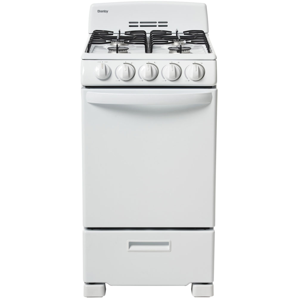 """20"""" Manual Clean Gas Range,4 Open Burners,Electric Ignition,2 Oven Racks"""