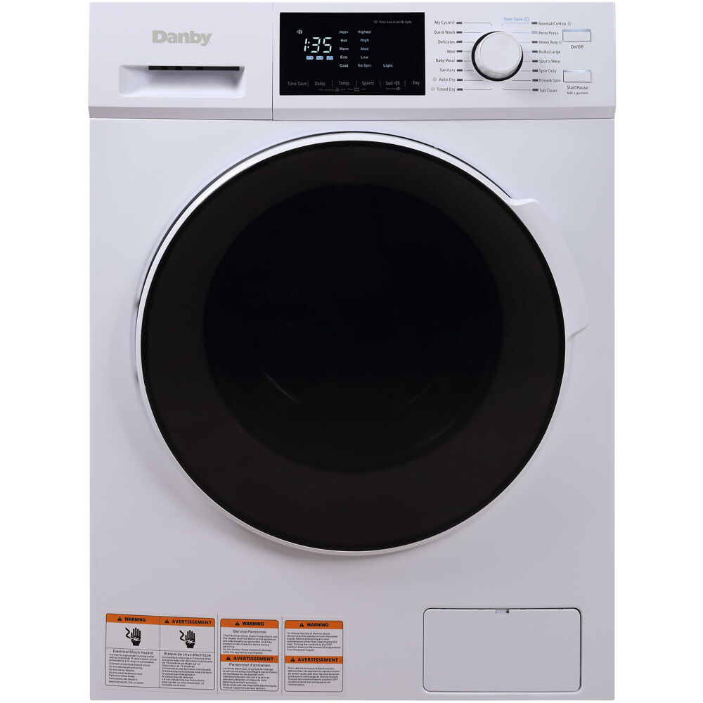 2-In-1 Laundry Combo, 16 Wash/Dry Programs, Digital Display, SS Interior