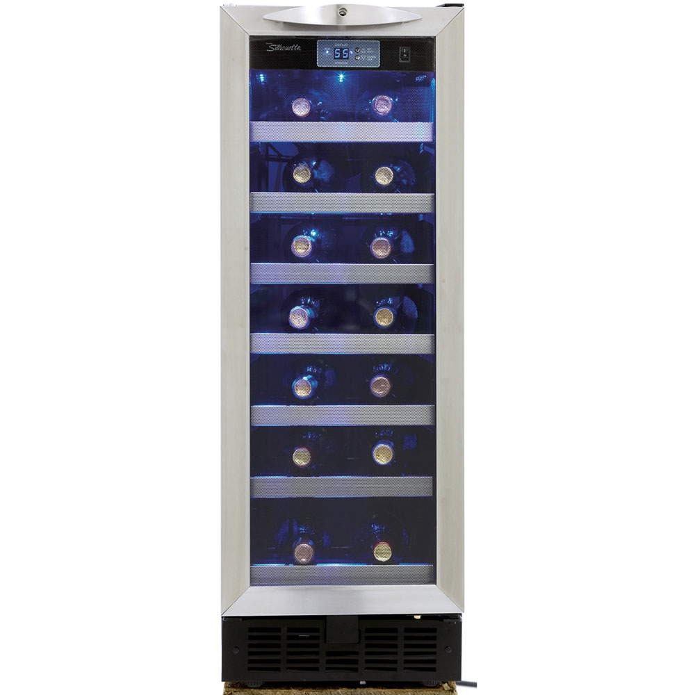 "12"" Built-in Wine Cooler with 27-Bottle Capacity"