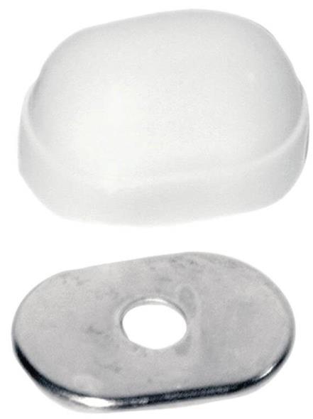 BOLT CAP CLOSET OVAL WHITE