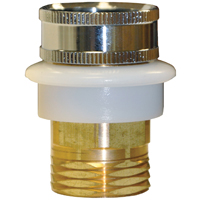 Danco 10518 Quick Connect Adapter, 3/4 in Male Garden Hose X 3/4 in Female Garden Hose, Metal, Polished Brass