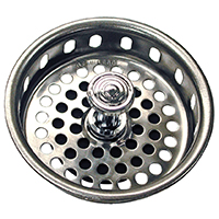 STRAINER BASKET 3-3/4IN CHROME