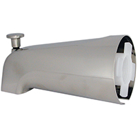 Danco 89249 Universal Bathtub Spout With Diverter, 6 in Spout Length, Metal, Brushed Nickel