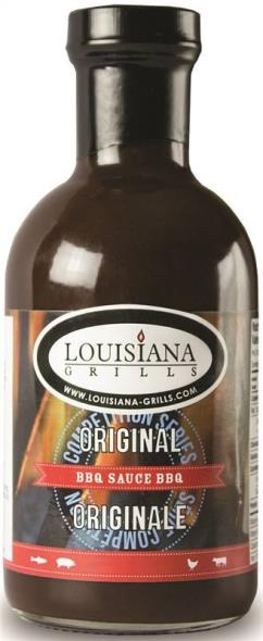 Louisiana Grills 50500 Original BBQ Sauce, 17 oz, Dark Rich Brown