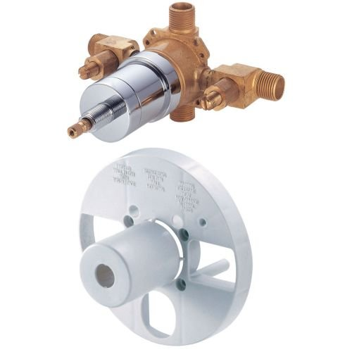 1 Handle Tub and Shower Pressure Balance Valve With Side Discharge Stop