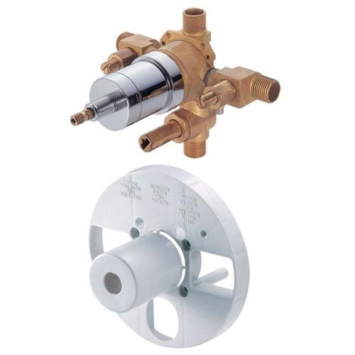 1 Handle Tub and Shower Pressure Balance Valve With Diverter Side Discharge Stop