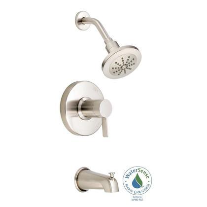 1 Handle Lever Pressure Balance Tub and Shower Trim Brushed Nickel *amalfi