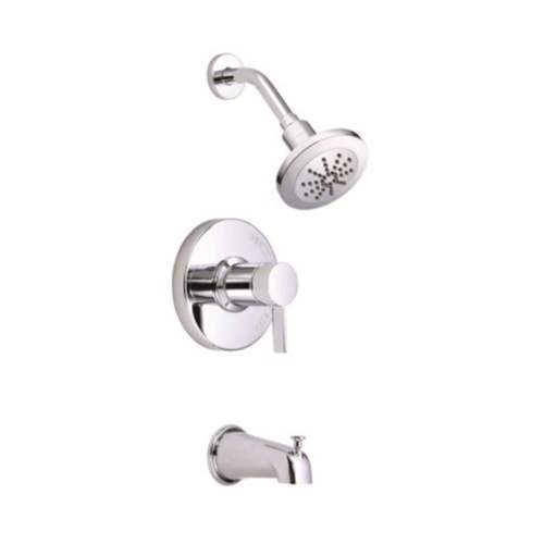 2 Gallons Per Minute Trim 1 Handle Pressure Balance Tub and Shower Faucet Polished Chrome