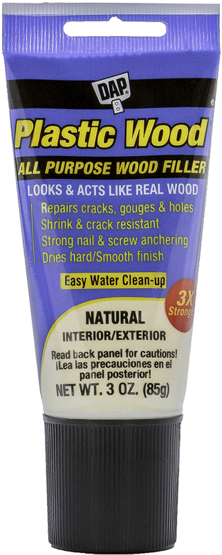 00580 3OZ NATURAL PLASTIC WOOD