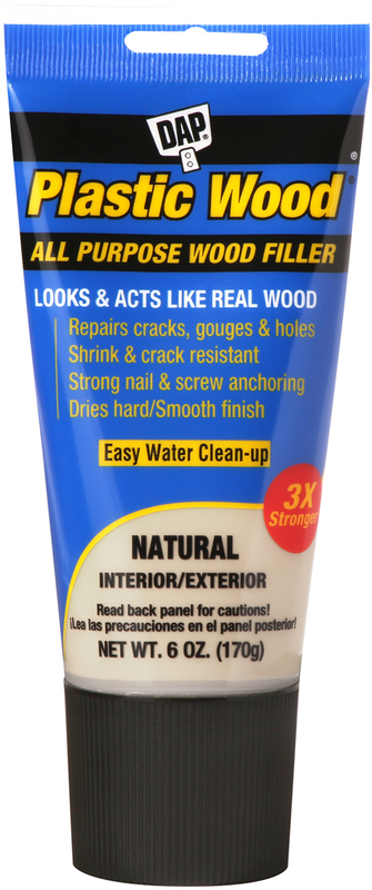 00581 6OZ NATURAL PLASTIC WOOD