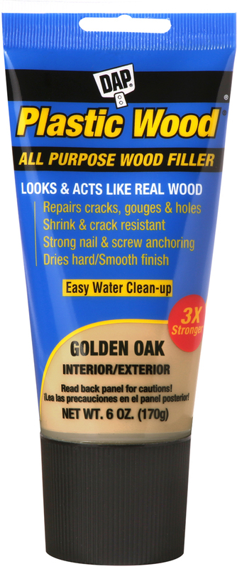 00582 6OZ GLD OAK PLASTIC WOOD