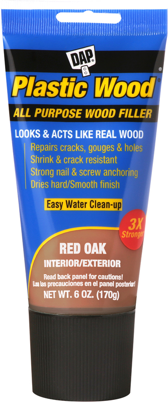 00583 6OZ RED OAK PLASTIC WOOD