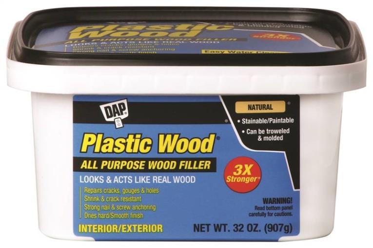 FILLER WOOD PLASTIC NAT 32OZ