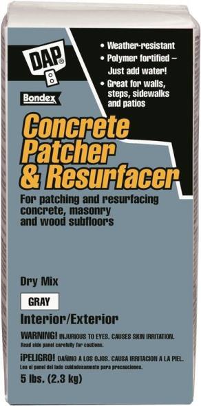 DAP Bondex Concrete Patcher and Resurfacer, 5 lb, Gray, Powder