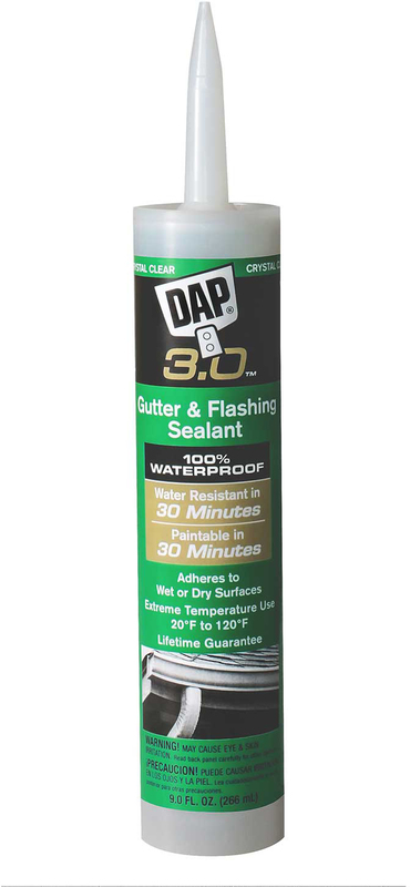 Dap 18377 Dap 3.0 Gutter/Flashing Sealant, Exterior - Premium, Crystal Clear
