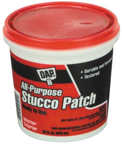 DAP 10504 All Purpose Stucco Patch, 1 qt, Tub, White, Paste