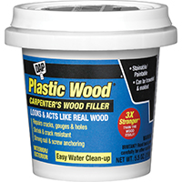 Dap Plastic Wood Latex Based Wood Filler, 5.5 oz, Natural, 2 - 6 hr