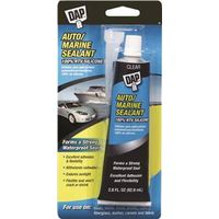 DAP 00694 RTV Auto/Marine Sealant, 2.8 oz, Tube, Clear, Paste