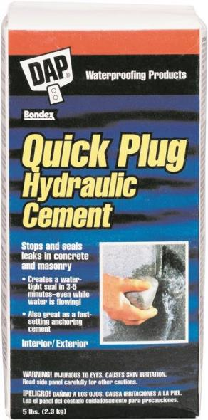 Quick Plug 14086 Hydraulic and Anchoring Cement, 5 lb, Gray, Powder