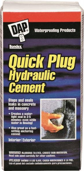 Quick Plug 14084 Hydraulic and Anchoring Cement, 2.5 lb, Gray, Powder