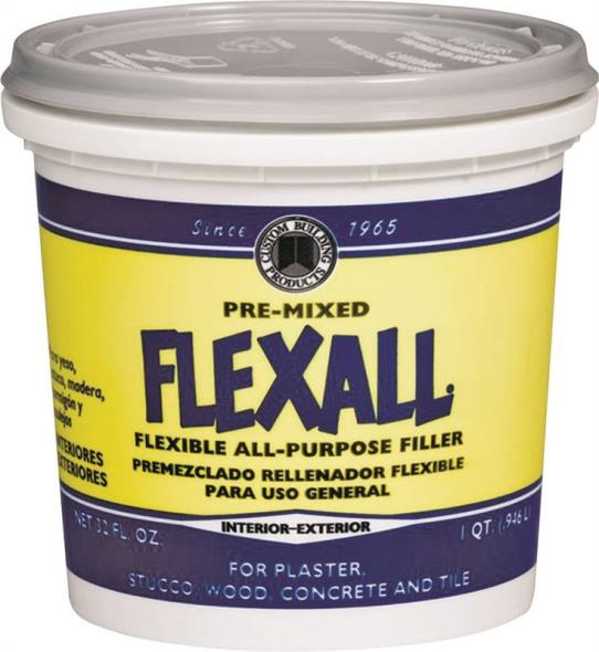 DAP Phenopatch Flexall All Purpose Flexible Ready-to-Use Patching Compound, 1 qt, White, Very Slight Ammonia, Paste
