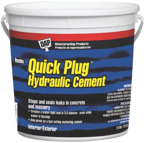 QUICK PLUG HYDRAULIC CEMENT, 10LB