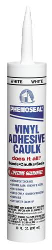 DAP� DOES IT ALL PHEONOSEAL VINYL ADHESIVE CAULK WHITE, 10 OZ.