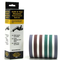 Drill Doctor WSSA0002223 Replacement Abrasive Belt Kit, 6 Pieces
