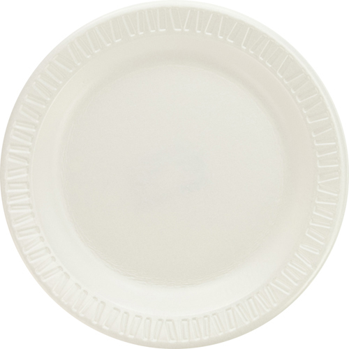 Quiet Classic Laminated Foam Dinnerware Plates, 6 Inches, White, Round, 125/Pack