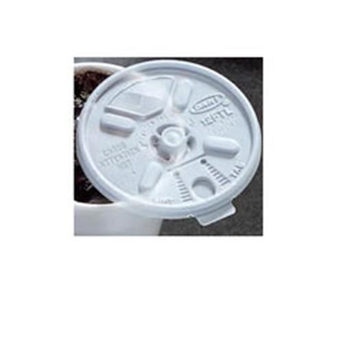 Dart Lid - White, Lift n'Lock, 10/100/cs, White, For 6, 8, 10, 12 & 14 oz.,
