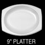 "Foam Dinnerware, Oval Platter, 6 3/4"" x 9 4/5"", White, 125/Pack, 4 Packs/Carton"
