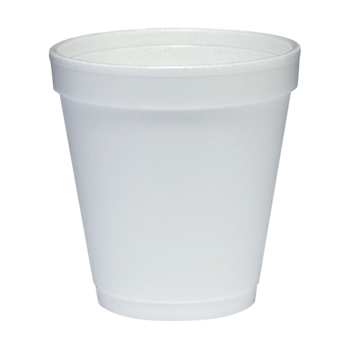 Conex Hot/Cold Foam Drinking Cups, 10oz, Squat, White, 40/Bag, 25 Bags/Carton