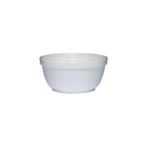 Insulated Foam Bowls, 12oz, White, 50/Pack, 20 Packs/Carton
