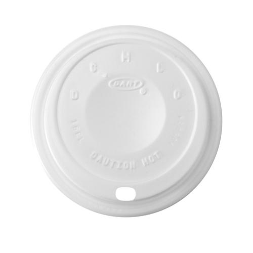 Dart Cappuccino Lid - White, 10/100/cs, White,