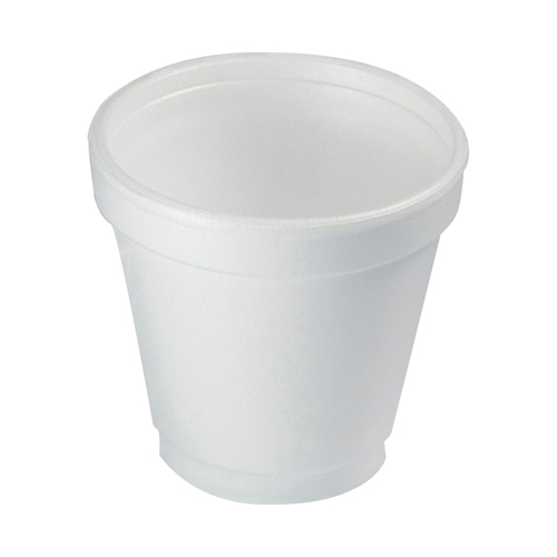Foam Drink Cups, 4oz, 25/Bag, 40 Bags/Carton