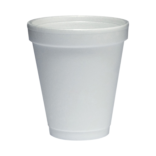 Foam Drink Cups, 6oz, White, 25/Bag, 40 Bags/Carton
