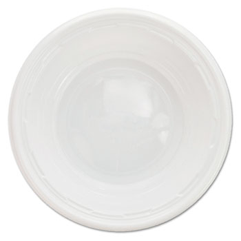 Famous Service Impact Plastic Dinnerware, Bowl, 5-6 oz, White, 125/Pack