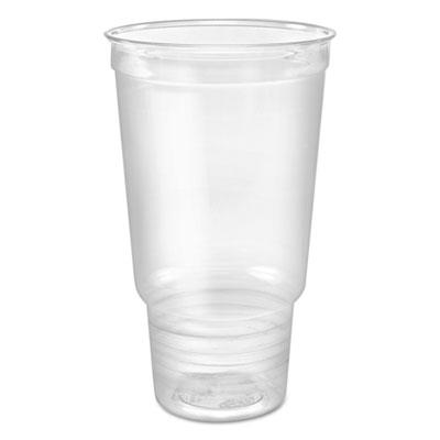 Clear PET Cold Cups, 32 oz, Clear, 25/Bag, 20 Bags/Carton